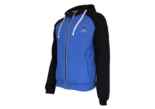 Donnay Sweater met hele rits en capuchon - Blauw/Zwart