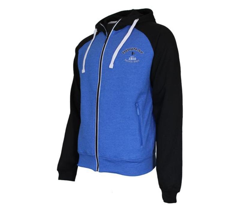 Donnay vest met capuchon - Blauw/Zwart