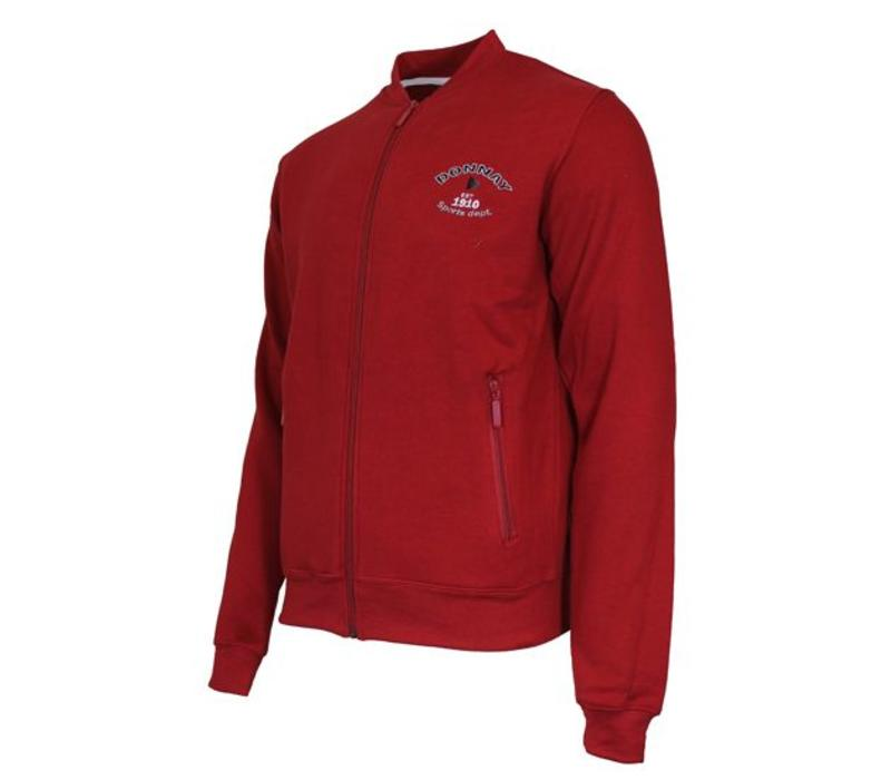 Donnay Sweater met hele rits - Rood