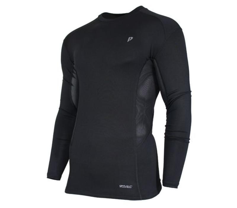 Donnay compressie shirt lange mouw - Zwart