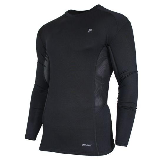 Donnay Donnay Heren - Compressie shirt lange mouw - Zwart
