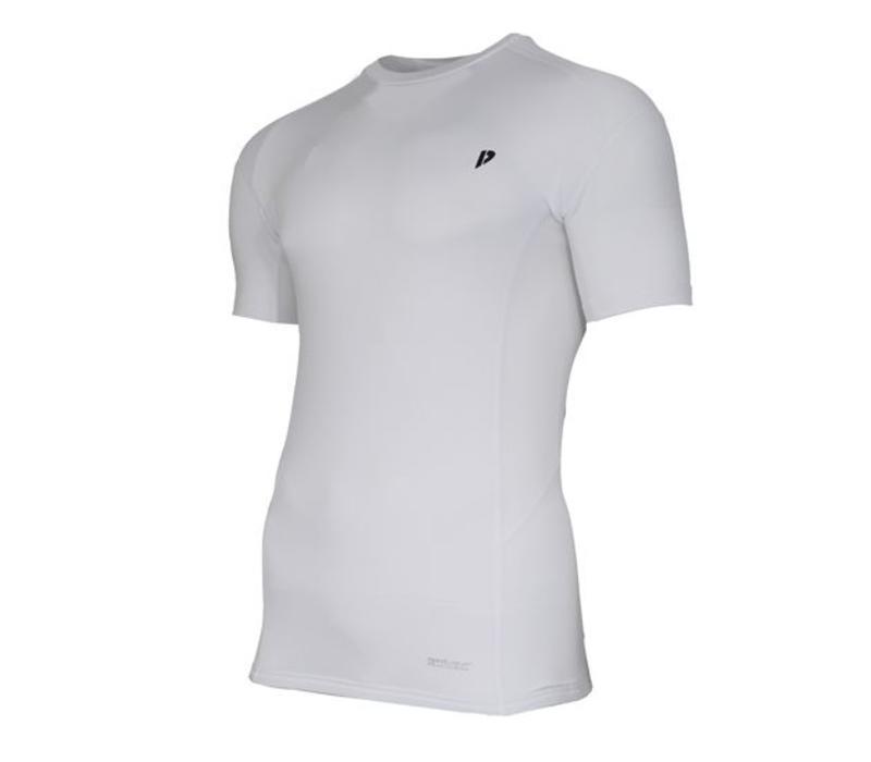 Donnay compressie shirt korte mouw - Wit