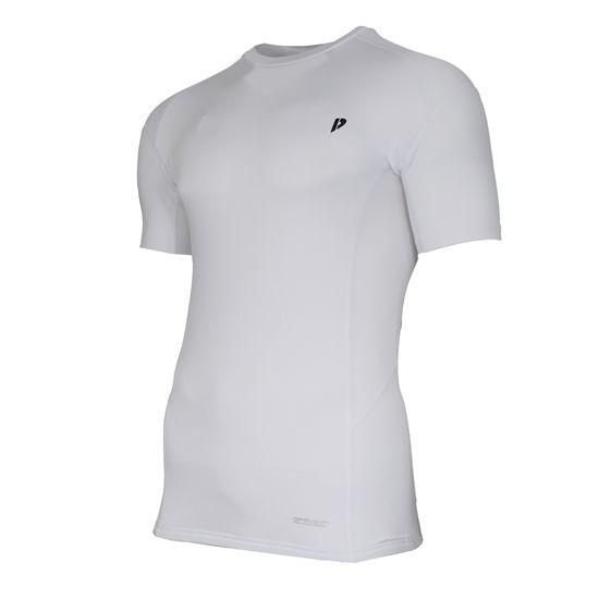 Donnay Donnay Heren - Compressie shirt korte mouw - Wit