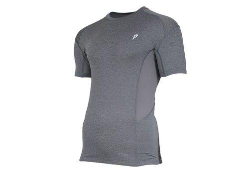 Donnay Donnay compressie shirt korte mouw - Grijs gemêleerd