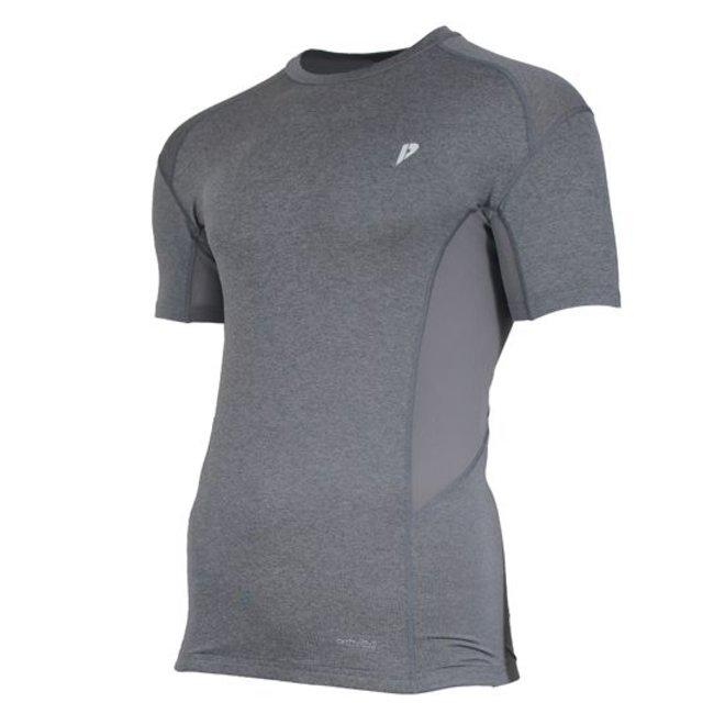 Donnay Heren - Compressie shirt korte mouw - Grijs gemêleerd