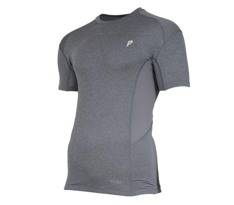 Donnay compressie shirt korte mouw - Grijs gemêleerd