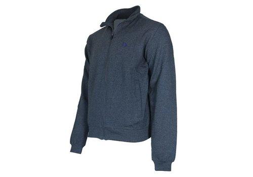 Donnay Sweater met hele rits - Donker blauw gemêleerd - NIEUW