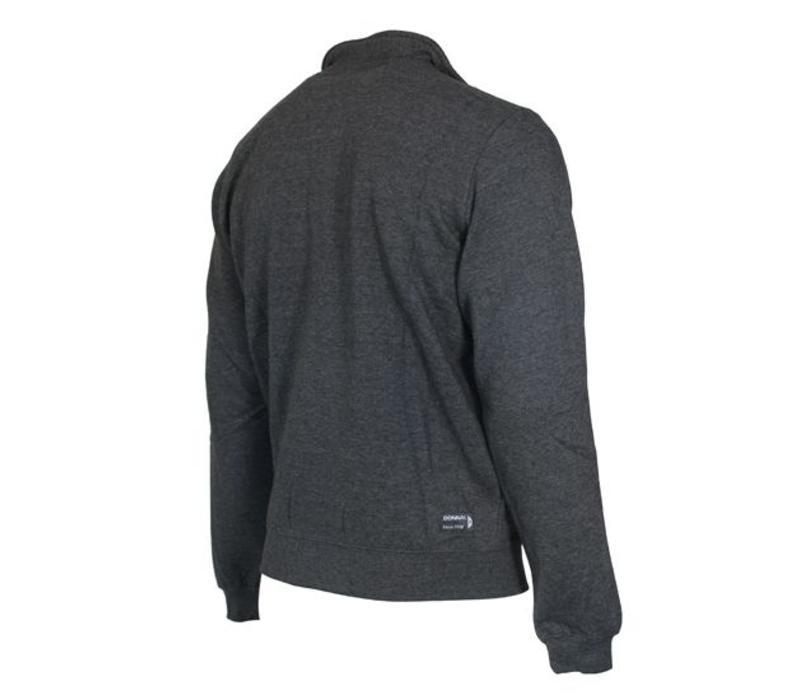 Donnay Sweater met hele rits - Donker grijs gemêleerd - NIEUW