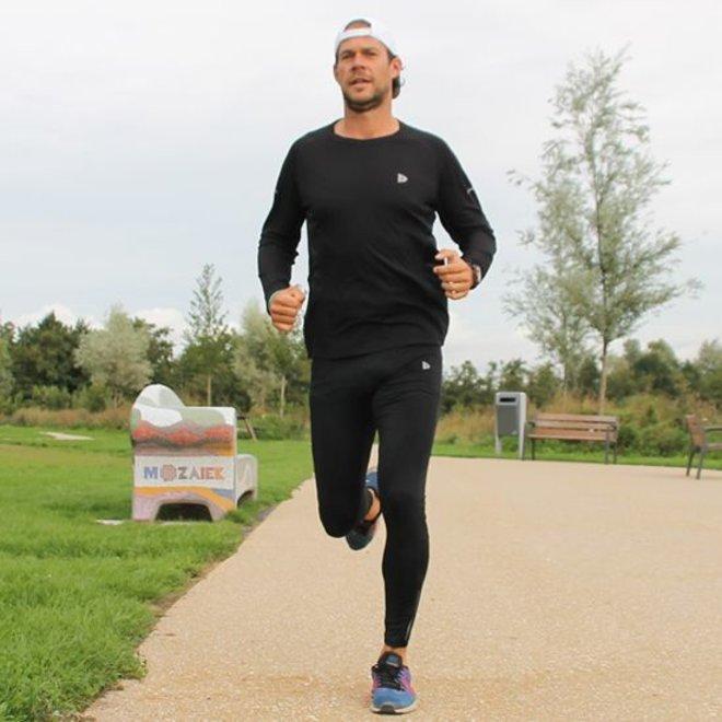 Donnay Heren - Multi Sport T-shirt lange mouw - Zwart