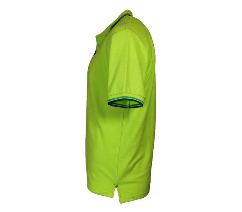Donnay Polo pique Tipped Riff - Lime groen