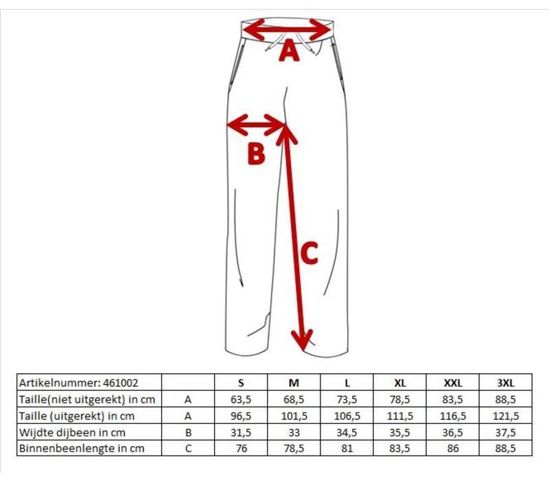 Donnay Joggingbroek dunne kwaliteit met rechte pijp - Spijkerbroek blauw gemêleerd - NIEUW