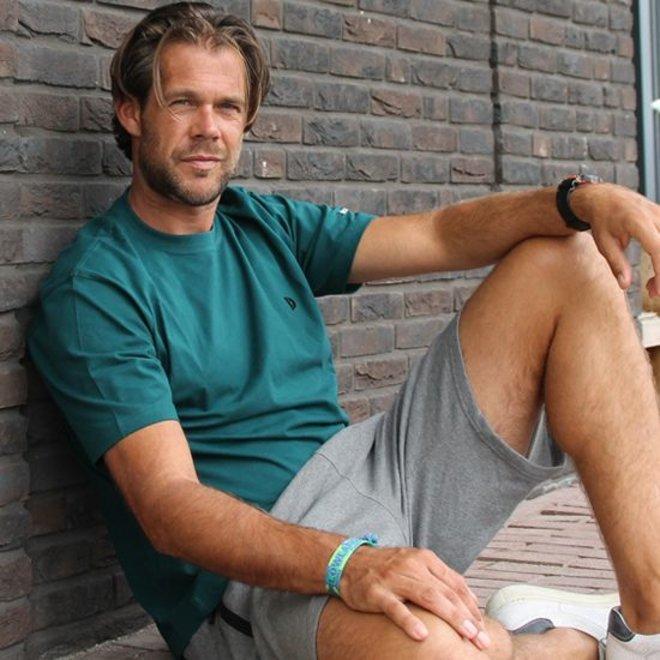 Donnay Heren - Korte joggingbroek Nick - Grijs gemêleerd