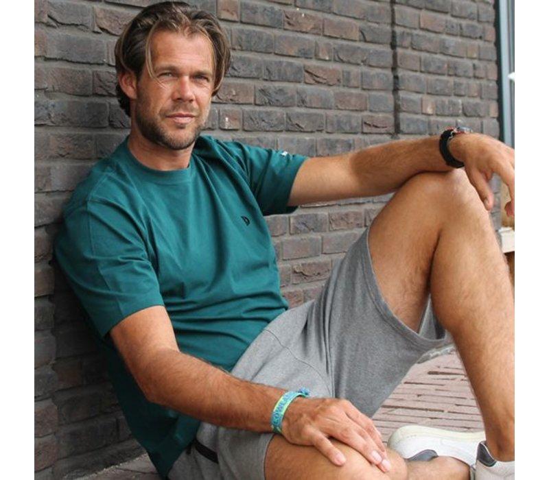 Donnay Korte joggingbroek Nick - Grijs gemêleerd