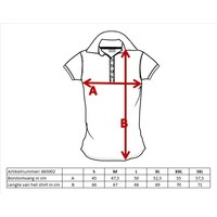 Donnay Polo shirt Dames - Zwart