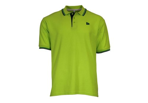 Donnay Donnay Polo Tipped Riff - Lime groen
