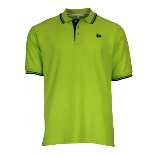 Donnay Heren - Polo Tipped Riff - Lime groen