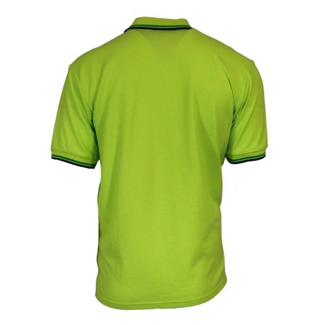 Donnay Heren - Polo pique Tipped Riff - Lime groen