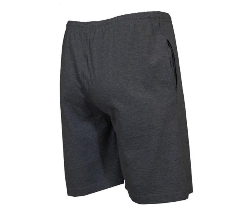 Donnay Korte joggingbroek - Donker grijs gemêleerd
