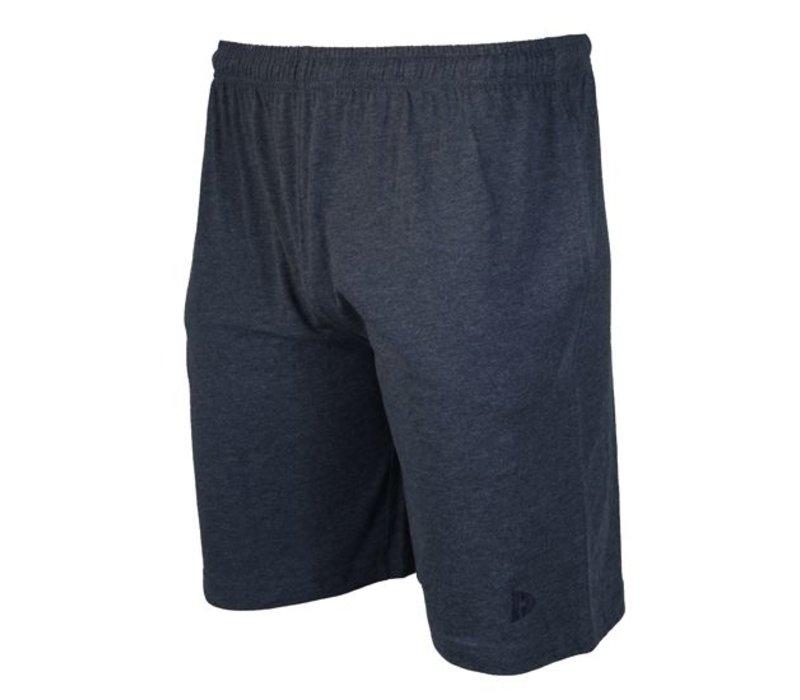 Donnay Korte joggingbroek - Blauw gemêleerd