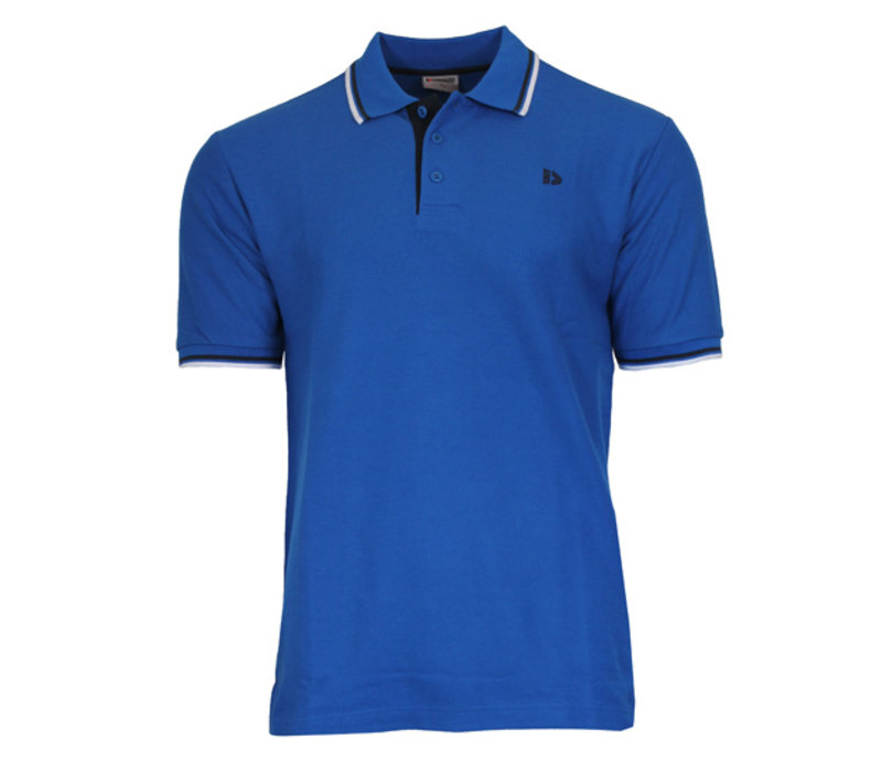 Donnay Polo pique Tipped Riff - Cobaltblauw