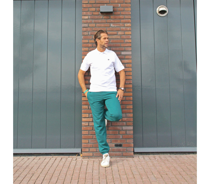 Donnay Joggingbroek met boord - Donker groen