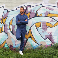 Donnay Joggingbroek met boord - Midnight-marl
