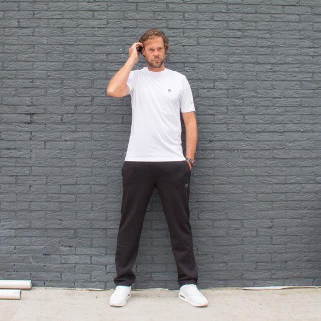 Donnay Heren - Joggingbroek rechte pijp Wess - Zwart
