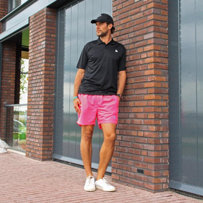 Donnay Heren - Kort Sport/zwemshort Toon - Fluo Pink