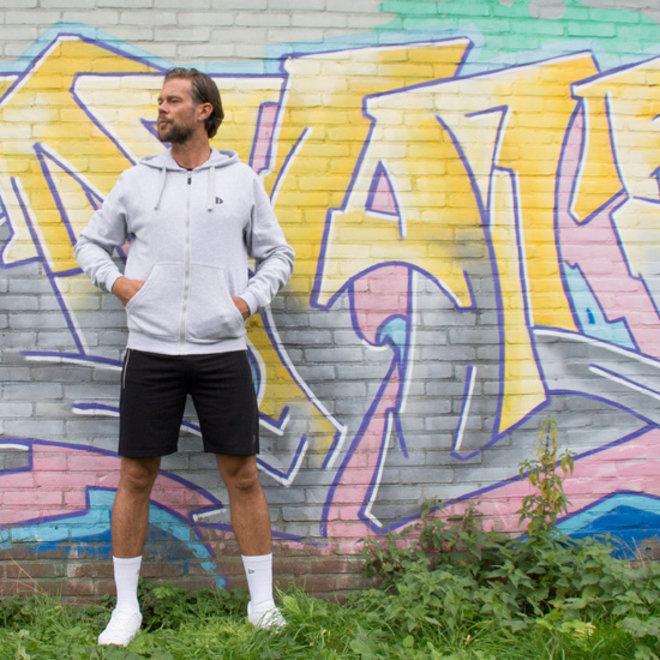 Donnay Heren - Korte joggingbroek Nick - Zwart