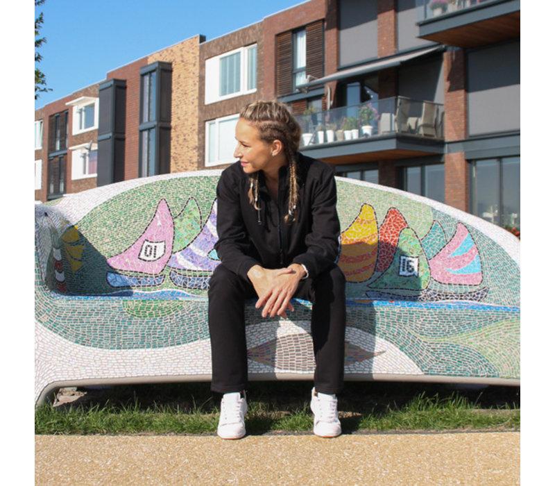 Donnay Joggingbroek rechte pijp - Dames - Zwart