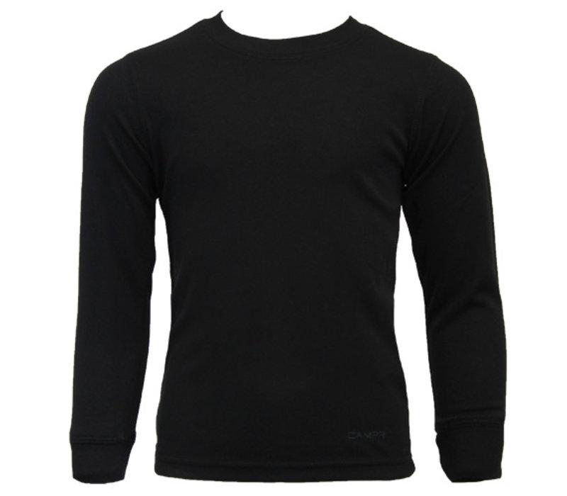 Campri Junior Thermo shirt lange mouw - Zwart