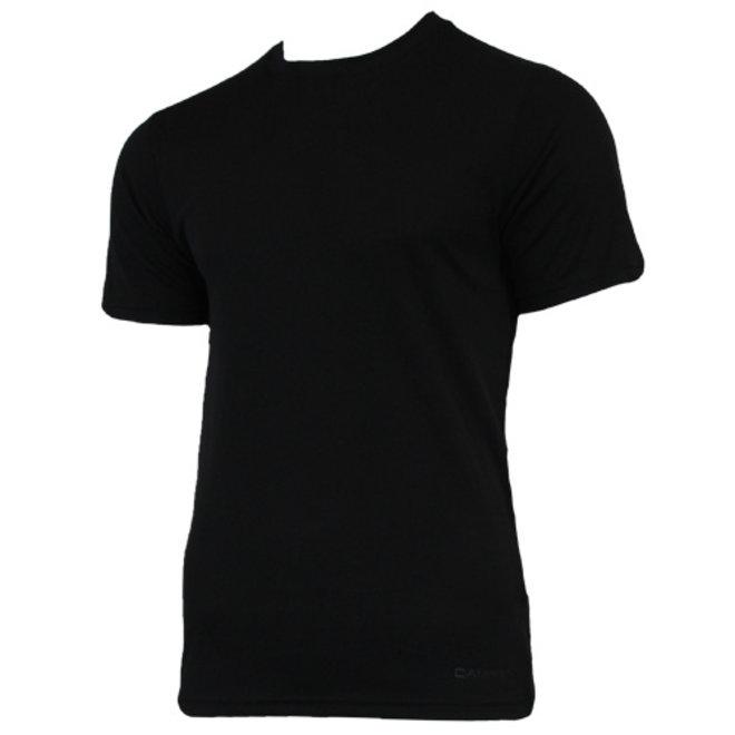 Campri Heren - Thermo shirt korte mouw - Zwart