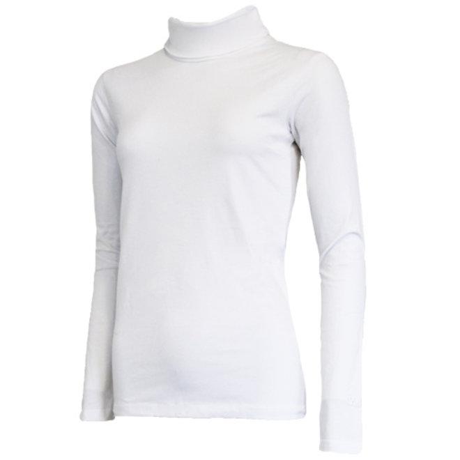 Campri Dames - Skipully - shirt met col - Wit