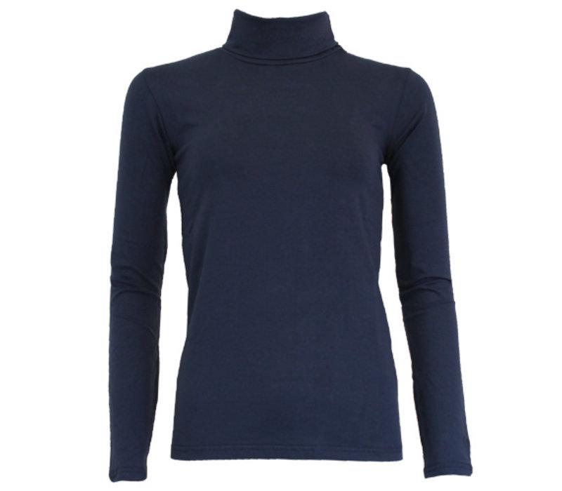 Campri Dames Skipully - shirt met col - Donkerblauw