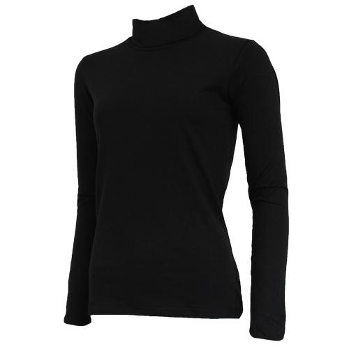 Campri Campri Dames - Skipully - shirt met col - Zwart