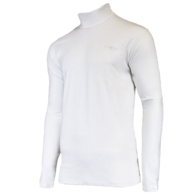 Campri Heren - Skipully - shirt met col - Wit