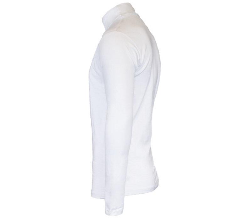 Campri Heren Skipully - shirt met col - Wit