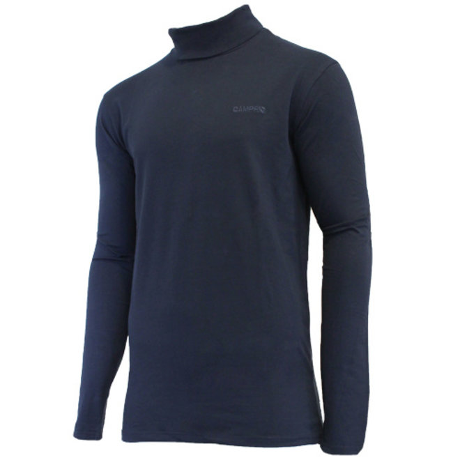 Campri Heren - Skipully - shirt met col - Donkerblauw
