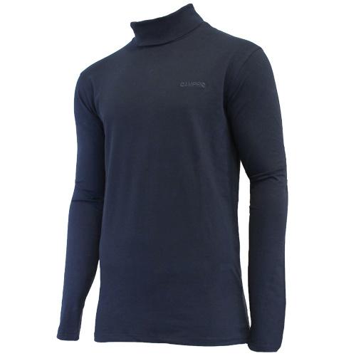 Campri Campri Heren - Skipully - shirt met col - Donkerblauw