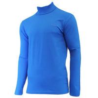 Campri Heren Skipully - shirt met col - Cobaltblauw