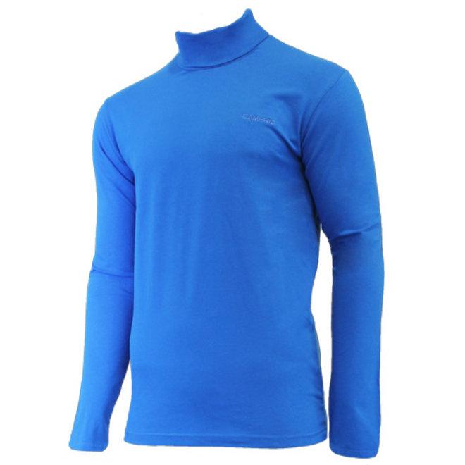 Campri Heren - Skipully - shirt met col - Cobaltblauw