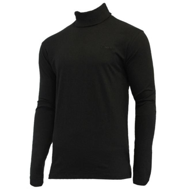 Campri Heren - Skipully - shirt met col - Zwart