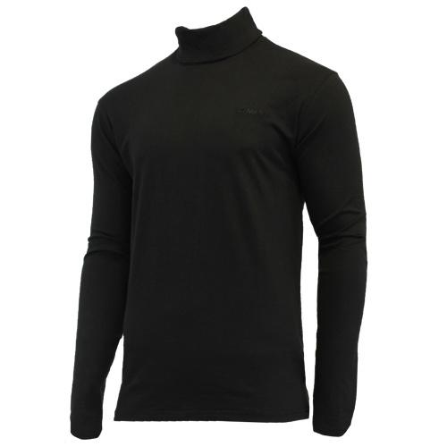 Campri Campri Heren - Skipully - shirt met col - Zwart