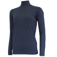 Campri Dames Skipully 1/4 rits - shirt met col - Donkerblauw
