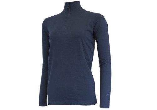 Campri Campri Skipully met 1/4 rits - shirt met col - Donkerblauw