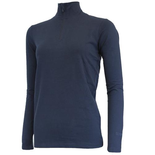 Campri Campri Dames - Skipully 1/4 rits - shirt met col - Donkerblauw