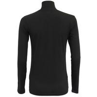 Campri Dames Skipully 1/4 rits - shirt met col - Zwart