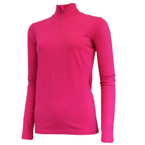 Campri Campri Dames - Skipully 1/4 rits - shirt met col - Roze