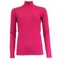 Campri Dames Skipully 1/4 rits - shirt met col - Roze