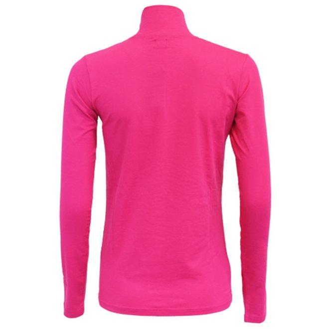 Campri Dames - Skipully 1/4 rits - shirt met col - Roze